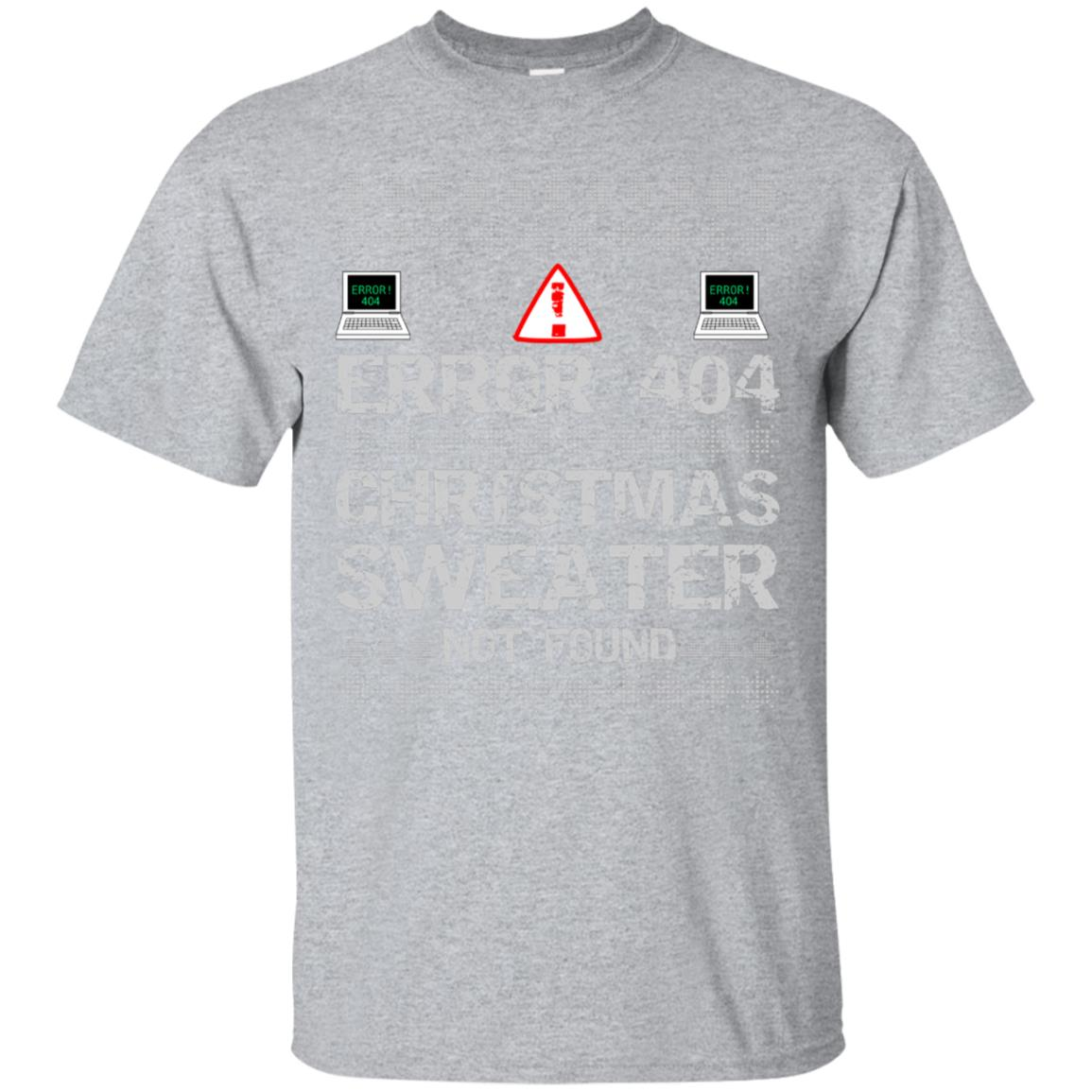 Error 404 Sweater Not Found Computer Christmas T Shirt 99promocode