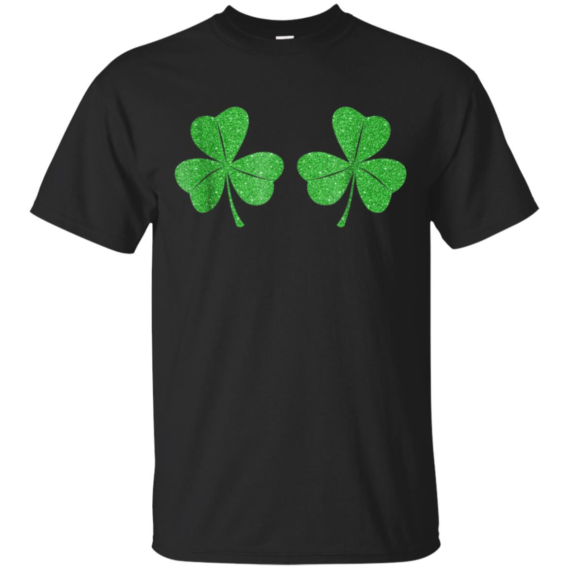 Shamrock Boobs Shirt St Patricks Day Green Glitter Bra Tee 99promocode