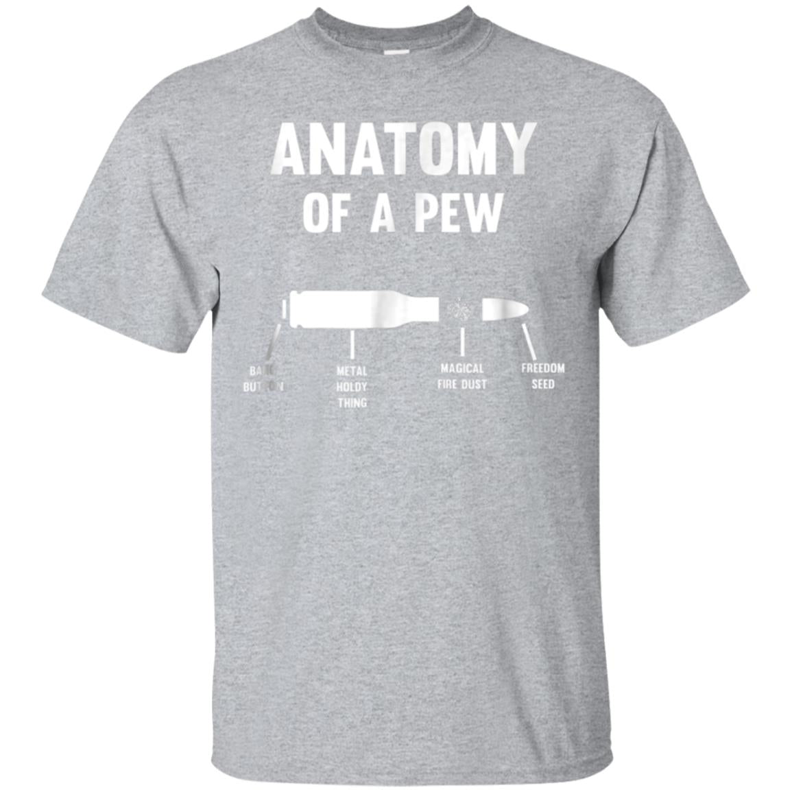 Anatomy Of A Pew Bullet Parts T-Shirt 99promocode