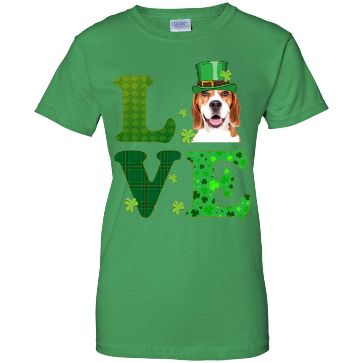 66d59b43 Awesome love beagle st. patrick's day t shirt funny dog lover gift -  99promocode