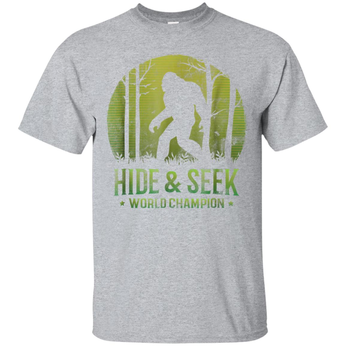 Hide and Seek World Champion T-Shirt Retro Bigfoot Believer 99promocode