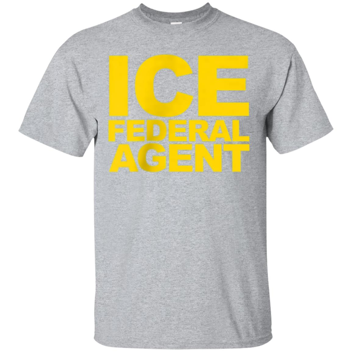ICE Federal Agent Shirt Navy Blue Front Back Law 99promocode