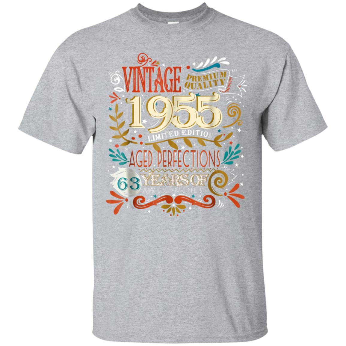 Vintage Born in 1955 63rd Birthday 63 Years Old Awesome Gift 99promocode