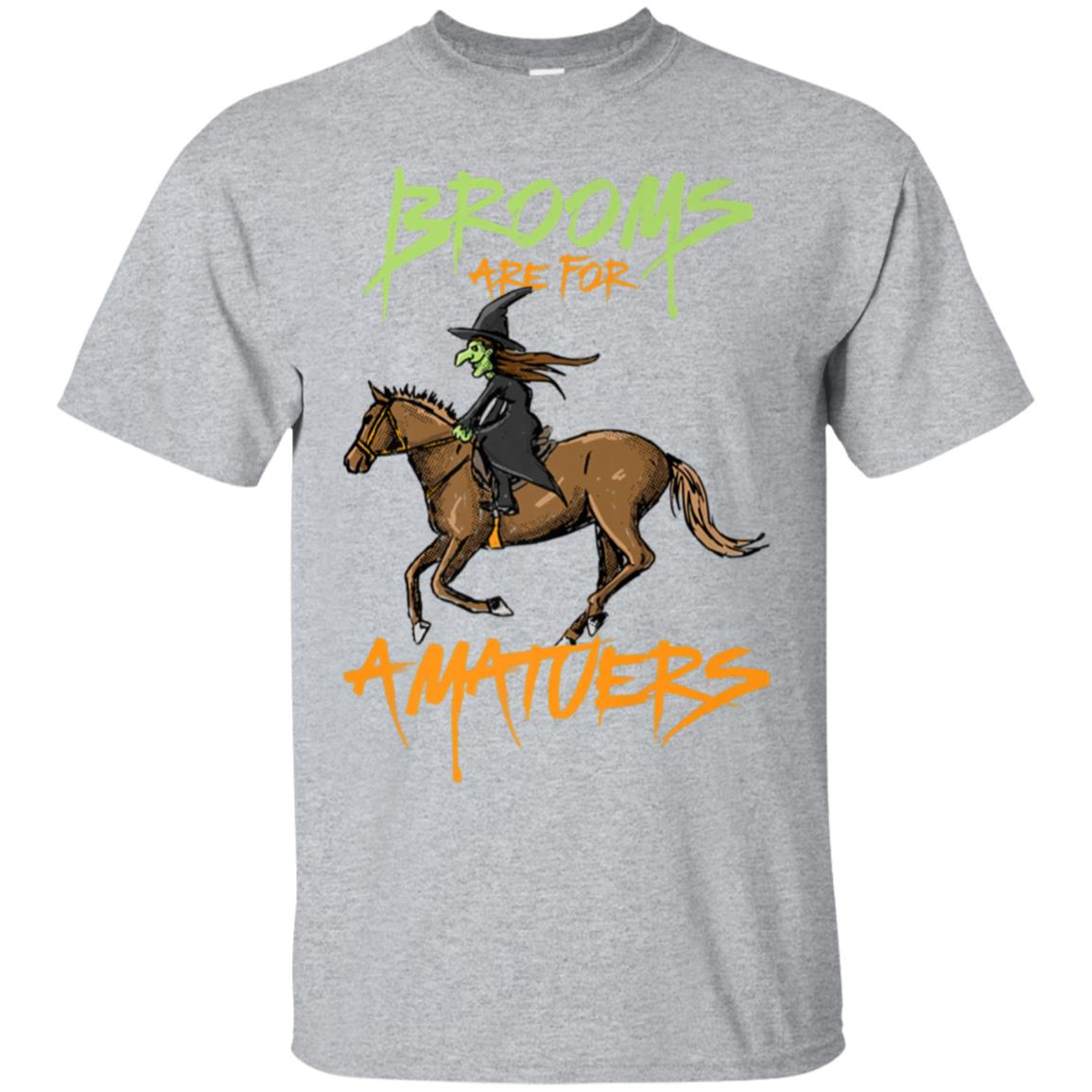 Brooms Are For Amateurs Horse Riding Shirt Halloween Costume 99promocode