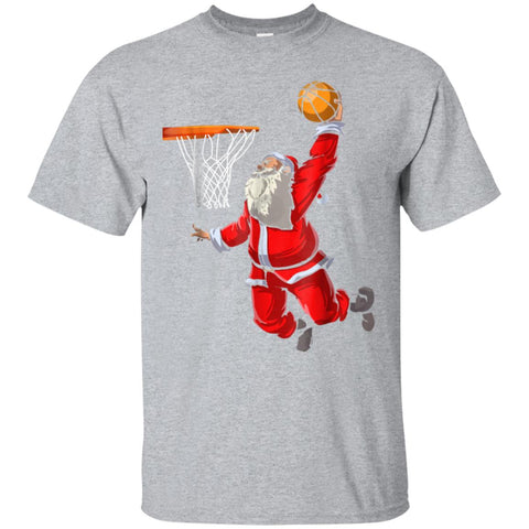 Basketball Santa T Shirt Christmas Hat Ball Sport