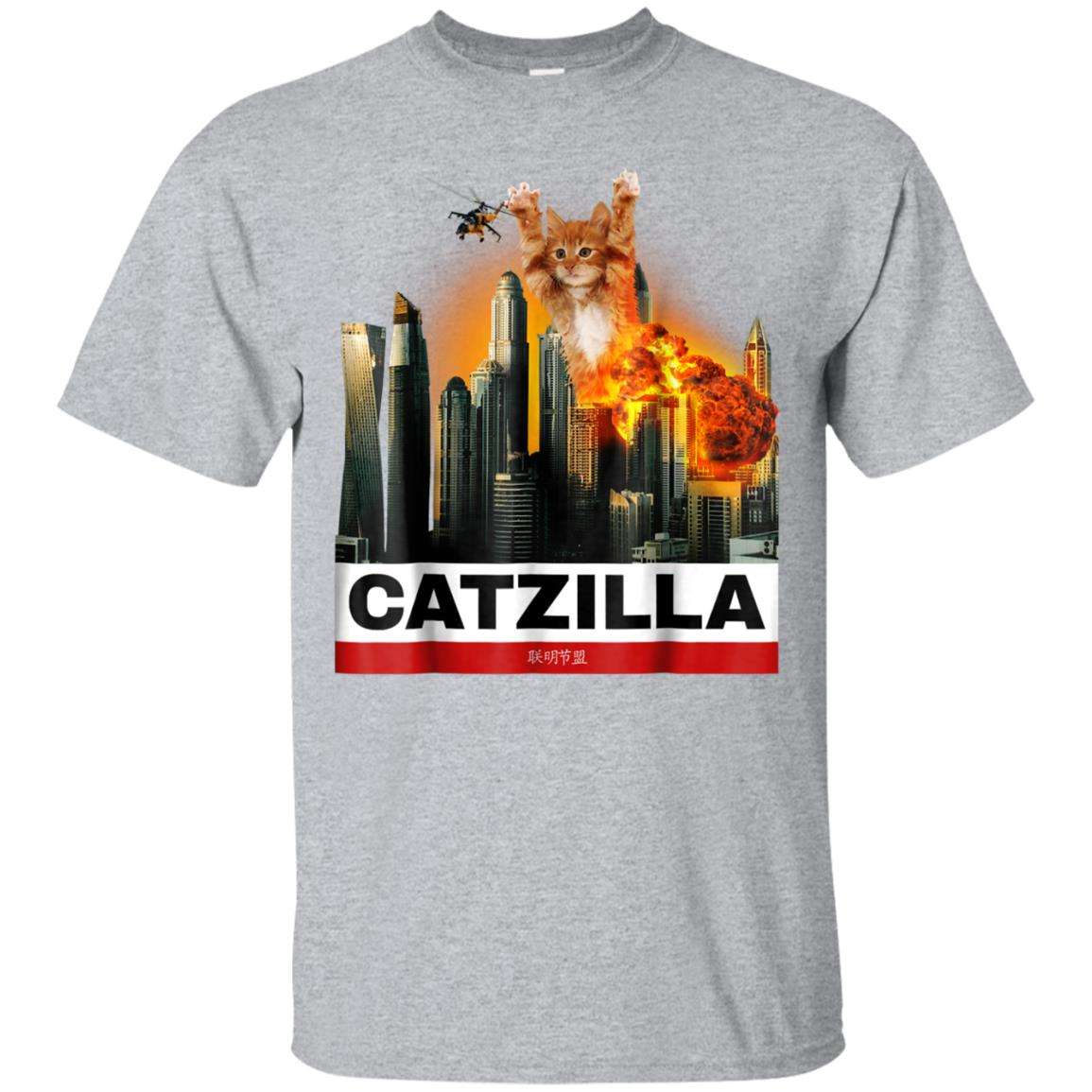 CATZILLA - Funny Kitty Tshirt for Cat lovers to Halloween 99promocode
