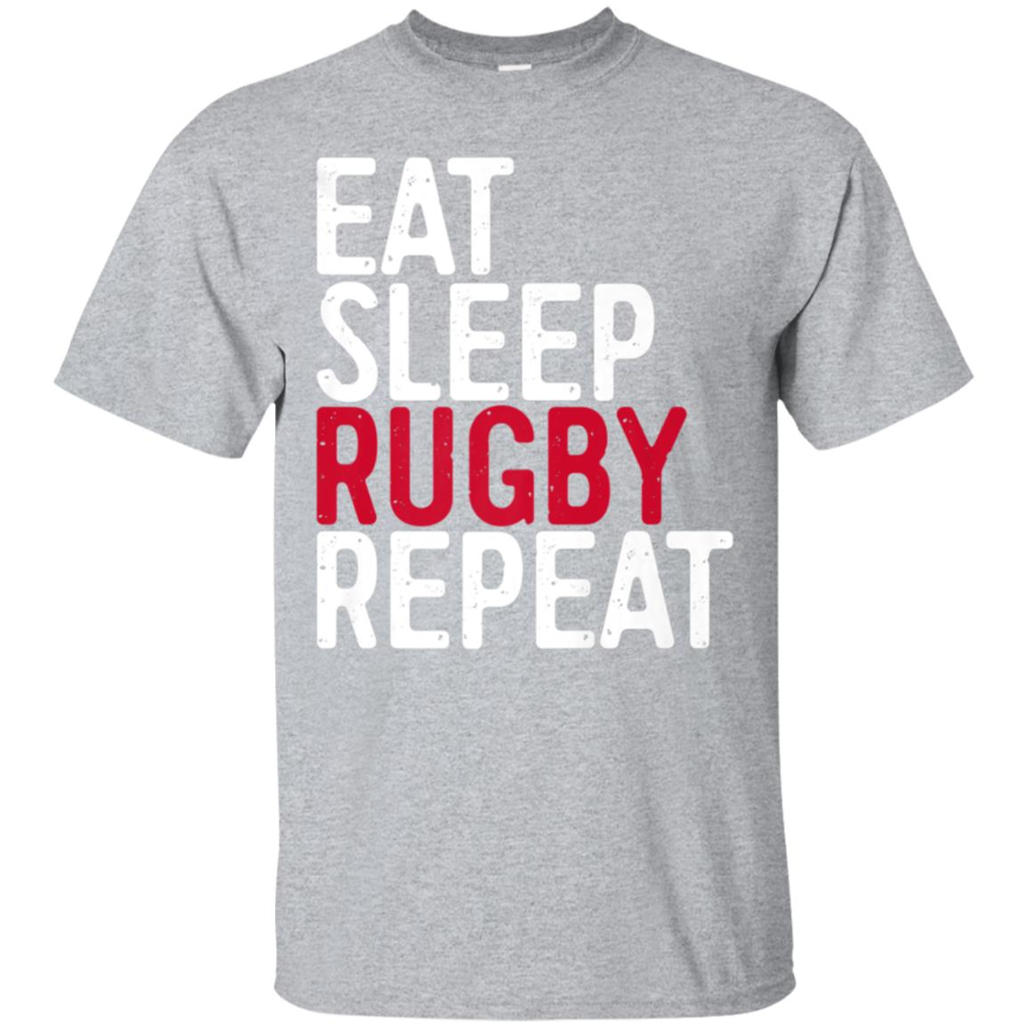 Eat Sleep Rugby Repeat T-Shirt Sport Game Gift 99promocode
