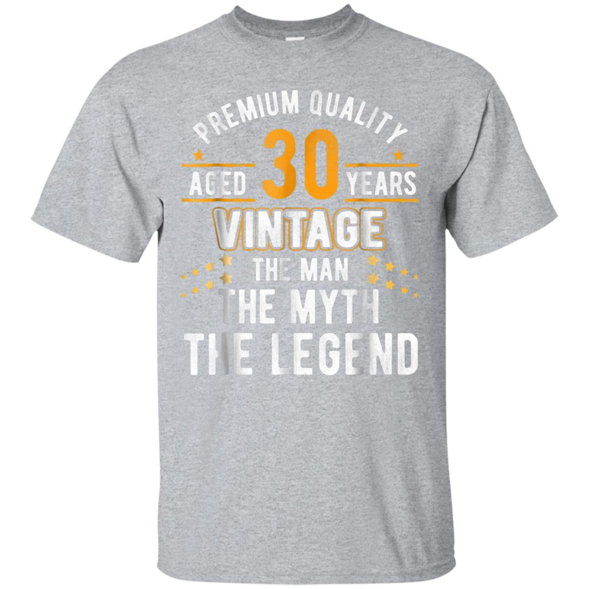 Vintage Dude The Man Myth Legend 30 Yrs 30th Birthday Shirt 99promocode