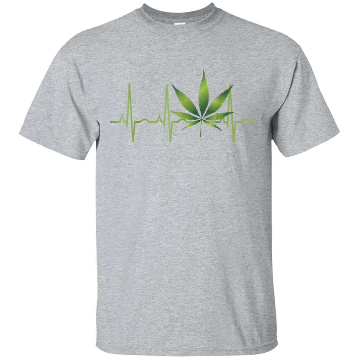 Weed Shirts for Men & Women Marijuana Leaf Heartbeat Gift 99promocode
