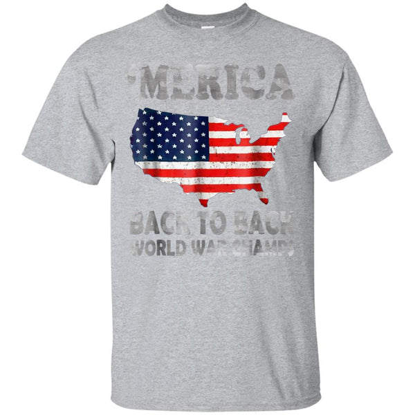 f2929dea Awesome merica back to back world war champions, champs shirt ...