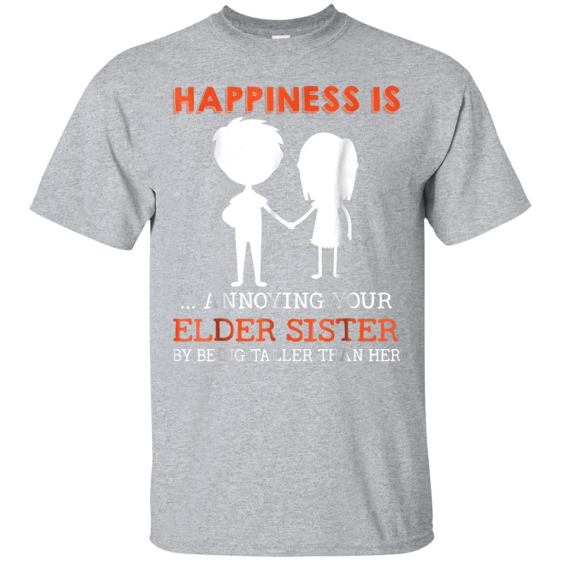 Funny Sibling Gift for Little Brother Shirt Lil Sister Shirt 99promocode