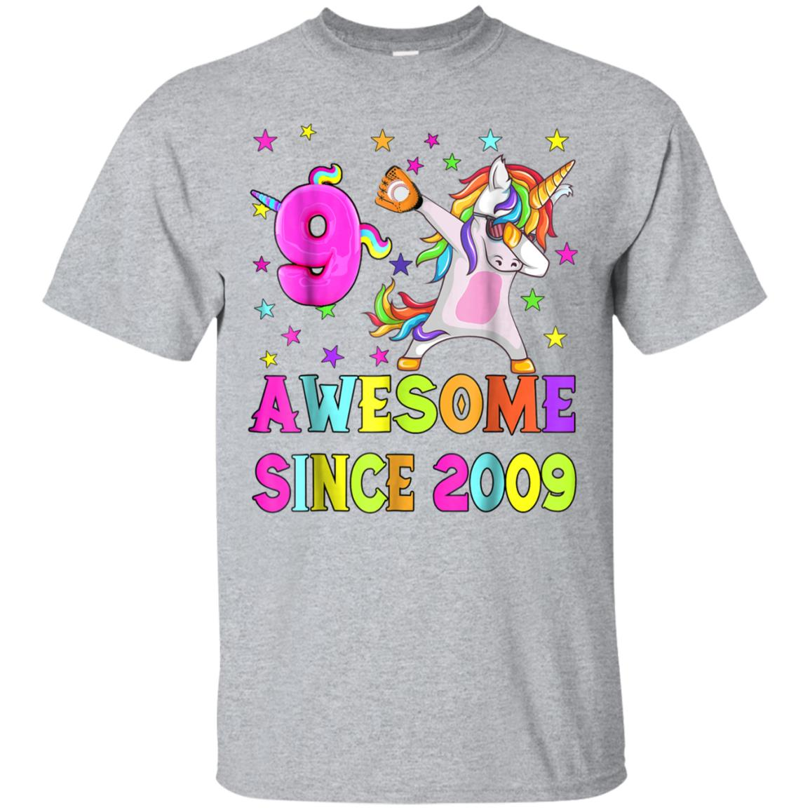 9 And Awesome Unicorn Dabbing 9th B-day T-Shirt 99promocode