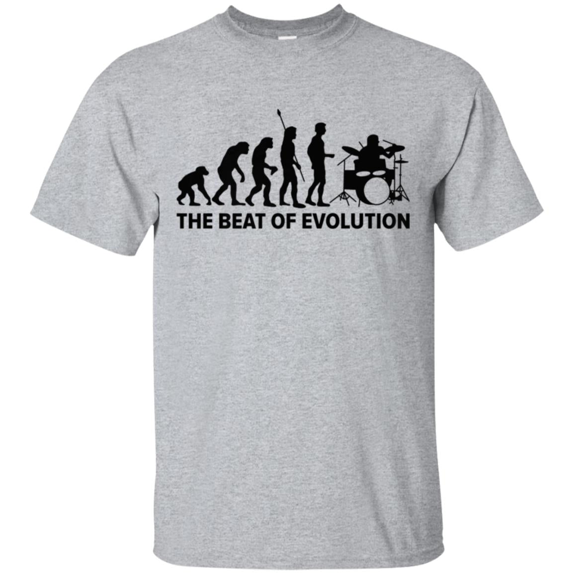 Drums Funny T-shirt The Beat Of Evolution Drummer Gift Tee 99promocode