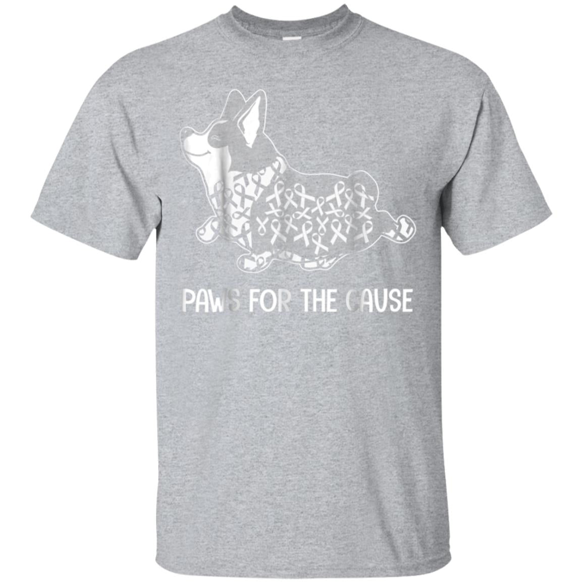 Paws For The Cause Funny Breast Cancer Corgi T-shirt 99promocode