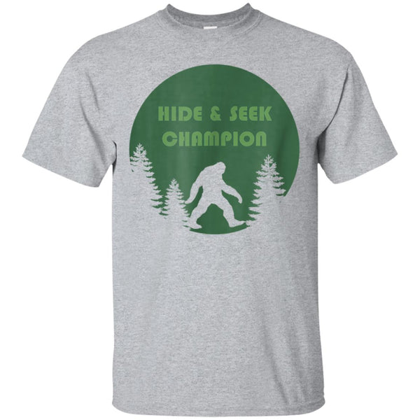 558ce9f31 Awesome bigfoot t shirt undefeated hide & seek champion sasquatch ...