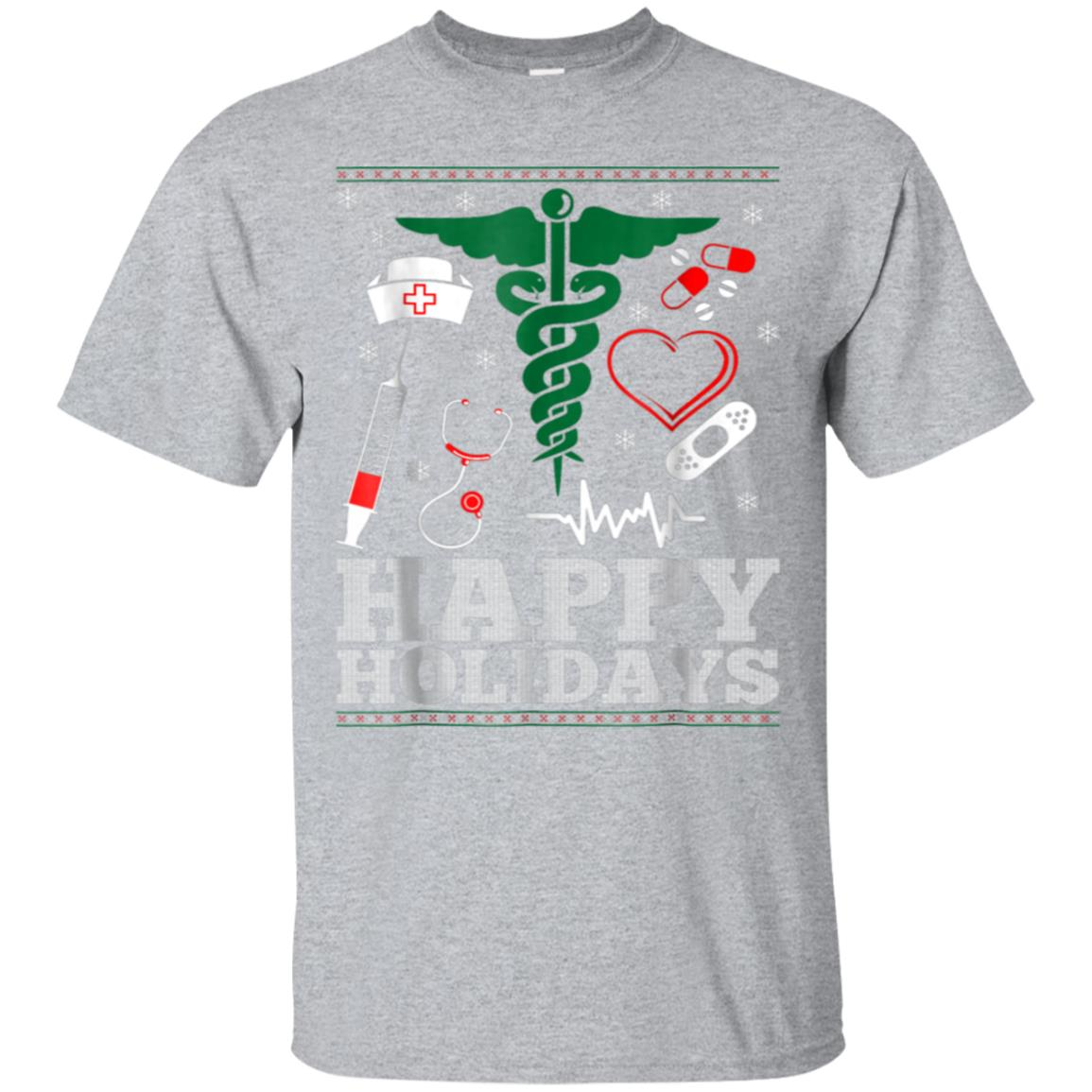 Happy Holidays Nurse Ugly Christmas Sweater Tshirt 99promocode