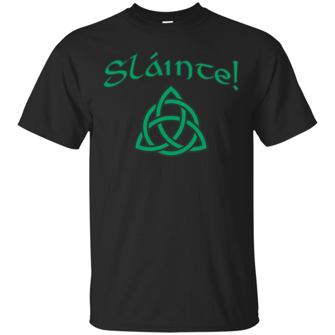 Slainte! St. Patty's Irish Gaelic Cheers Celtic Knot T-Shirt 99promocode