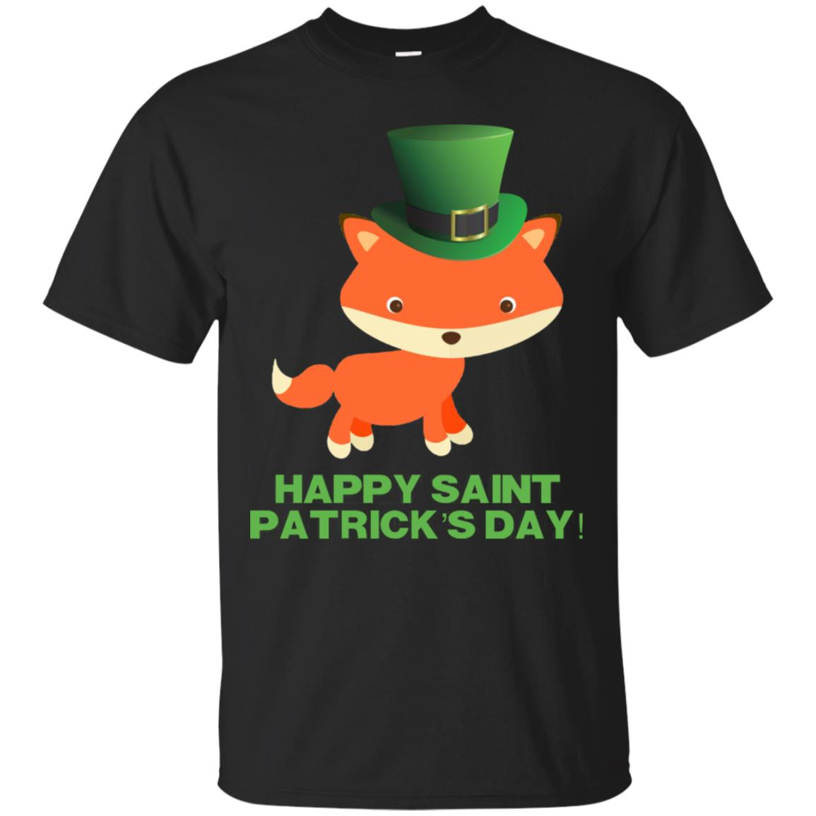 Cute St Patricks Day Fox Shirt for Kids Boy Girl Women & Men 99promocode