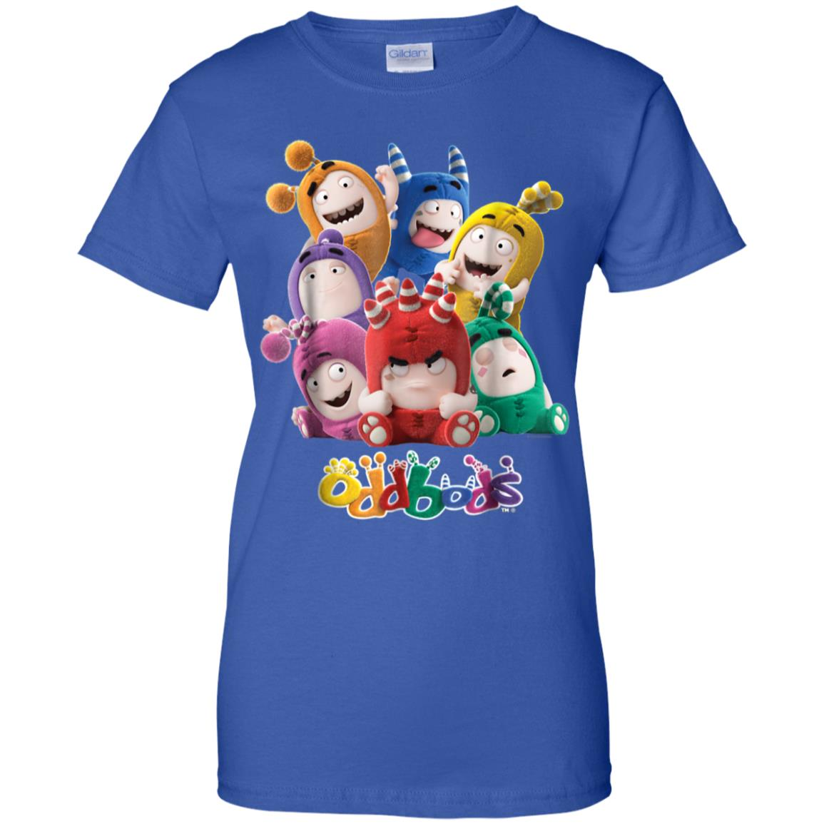 8fa73a5a7 Awesome oddbods all 7 characters in cute funny poses t shirt ...