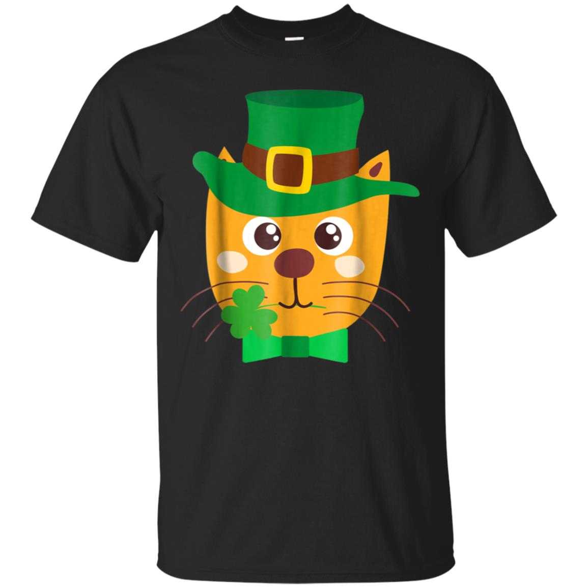 Cute St. Patrick's Day Cat T-Shirt - Gift For Boys And Girls 99promocode