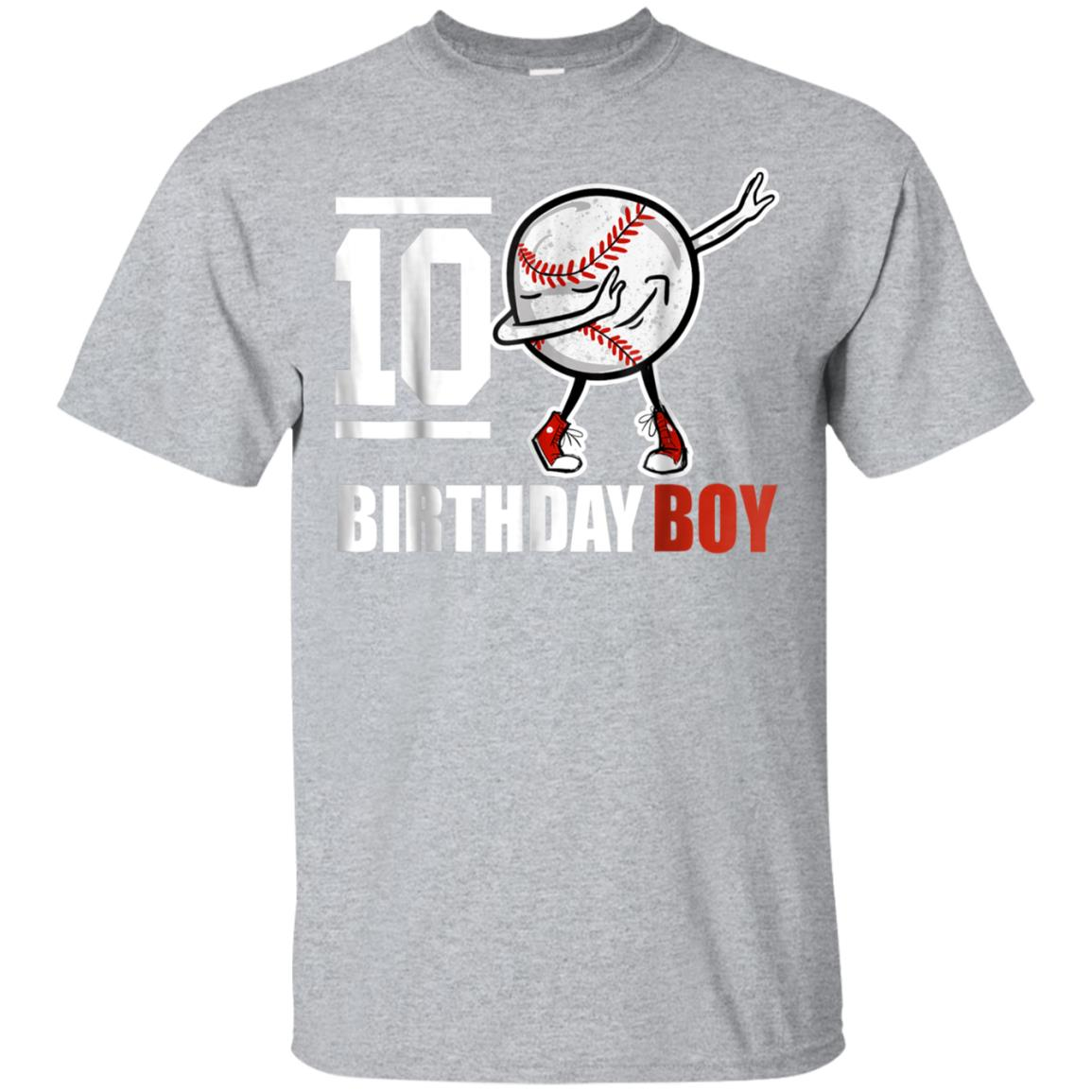 10 Year Old Birthday dabbing Baseball T-Shirt 10th Boy Gift 99promocode
