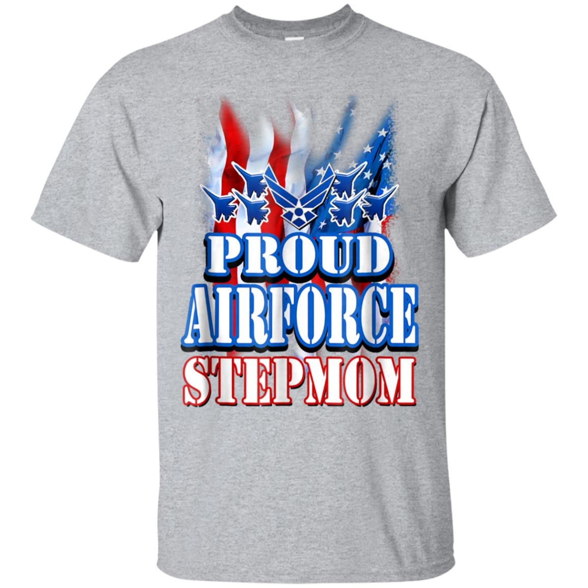 Proud Air Force Stepmom Shirt USA Flag Mothers Day Gift 99promocode