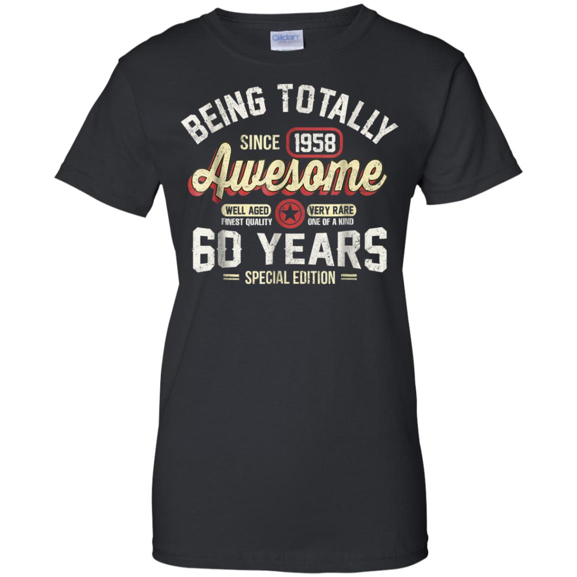 9e0386cfe Awesome 60th birthday gift vintage 1958 t shirt men women - 99promocode