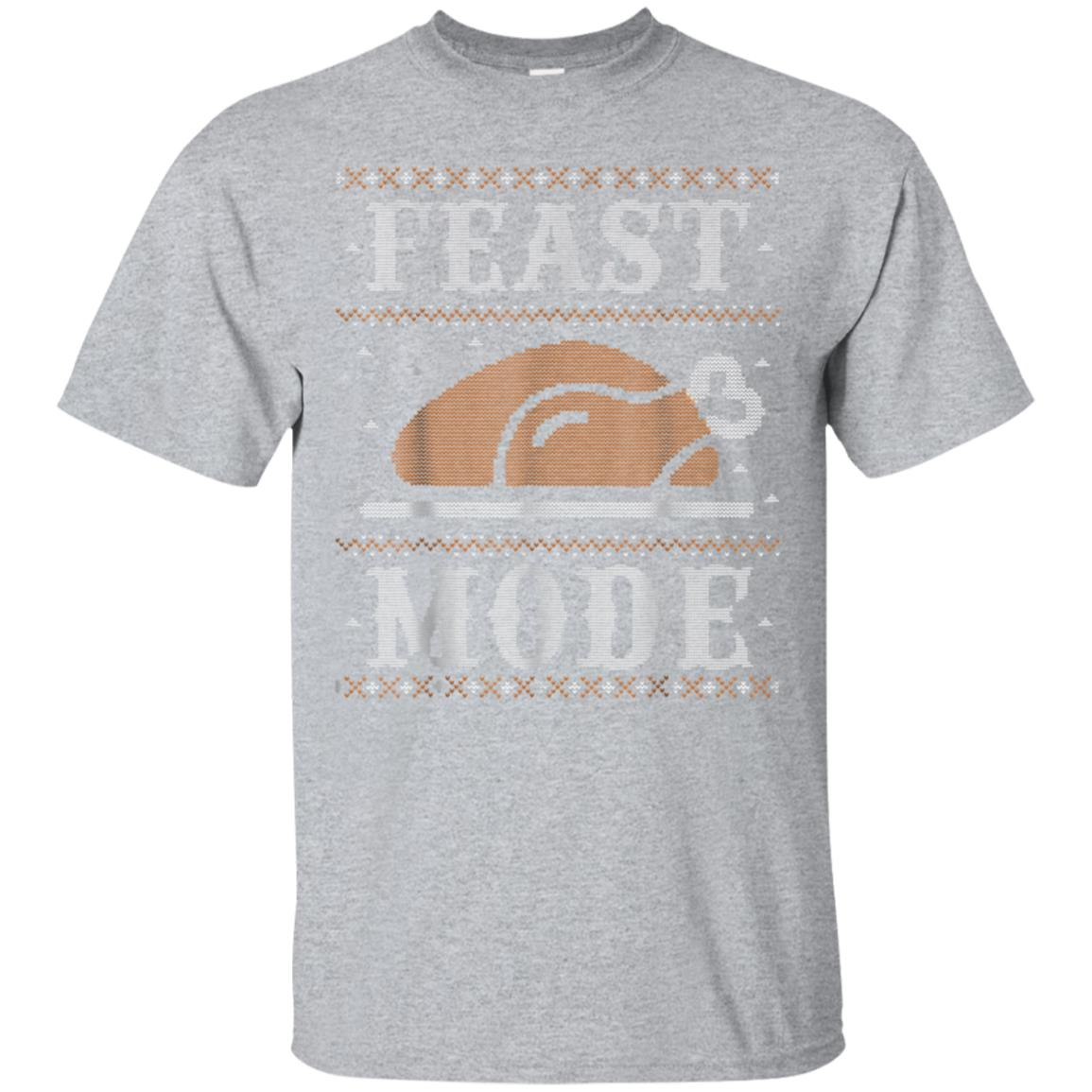 Funny Ugly Thanksgiving Sweater Shirt Feast Mode Tshirt 99promocode