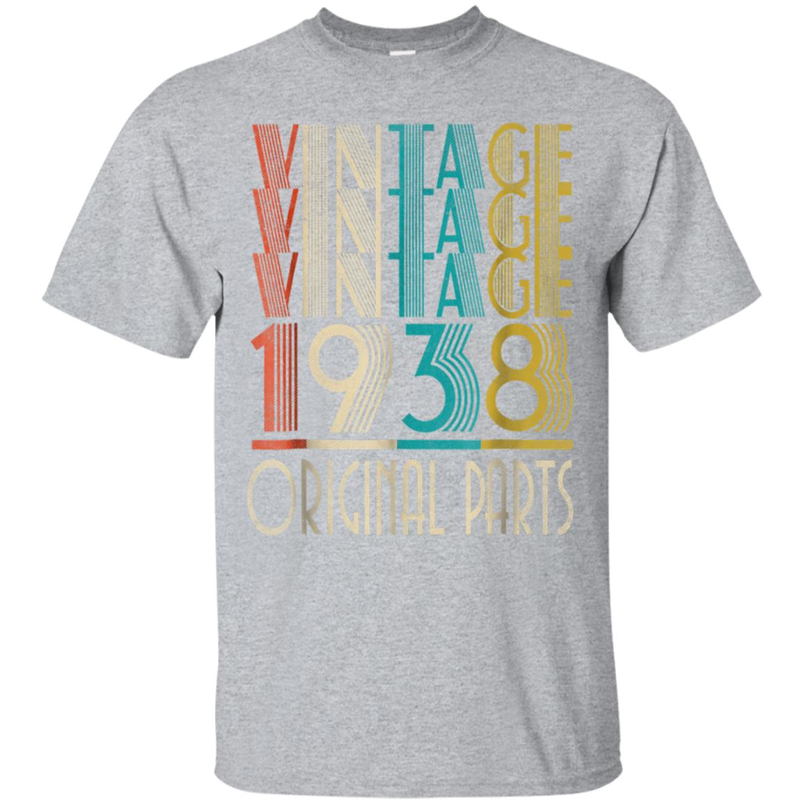 80th Birthday Retro Vintage 1938 T-Shirt Gift 99promocode