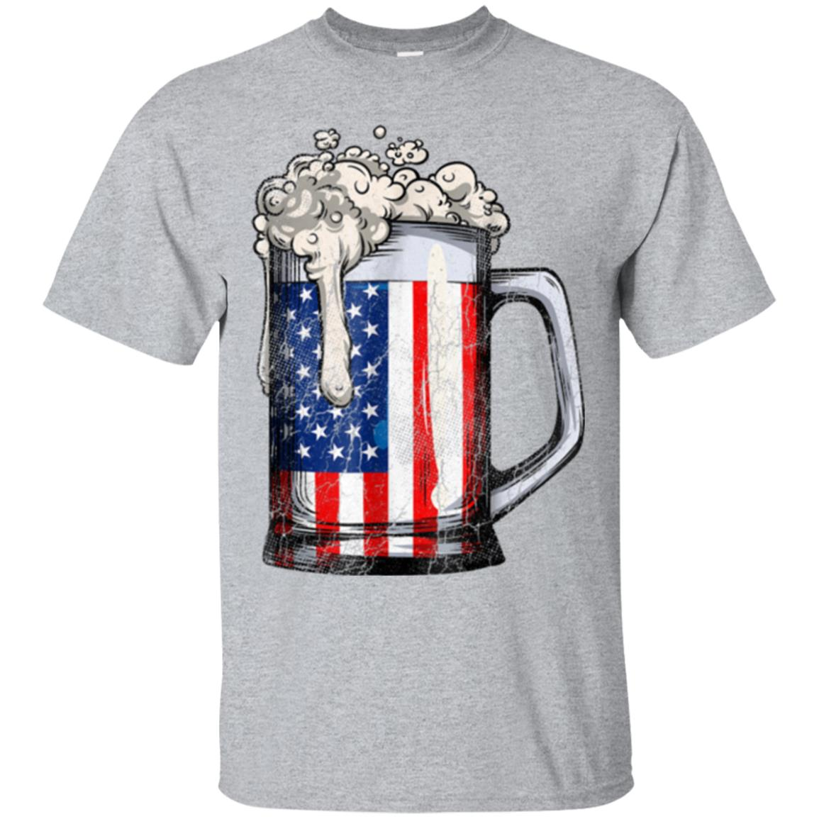 Beer American Flag T shirt 4th of July Men Women Merica USA 99promocode