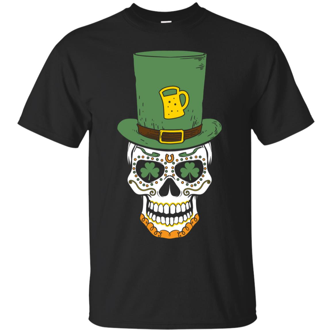 St Patricks Day Sugar Skull Shirt - Paddys Day Shirts 99promocode