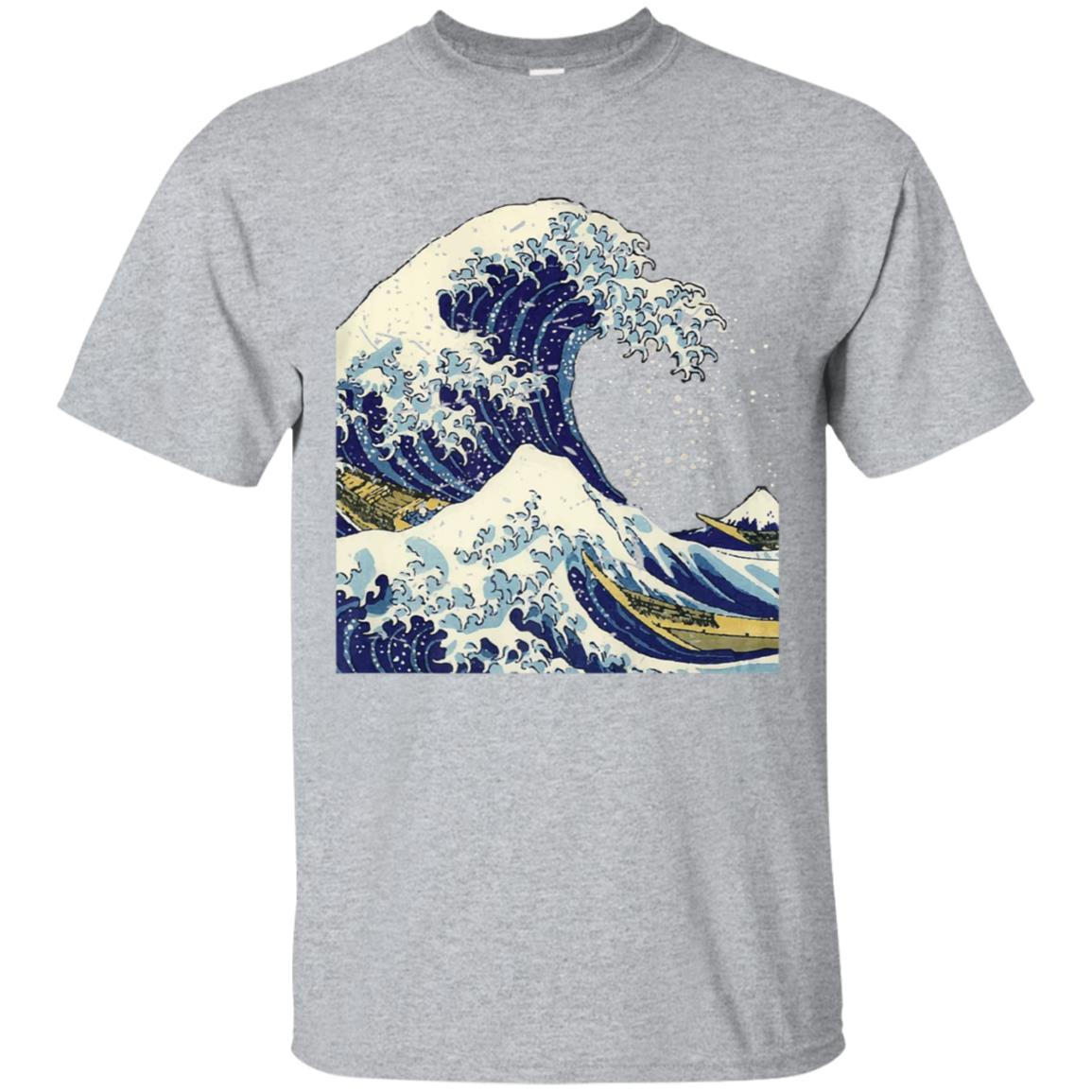 Distressed The Great Wave Hokusai T-Shirt 99promocode