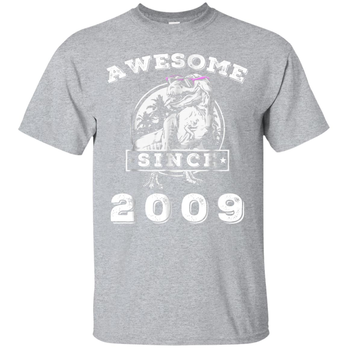 Awesome Since 2009 T-Shirt Funny 9th Birthday Gift Shirt 99promocode