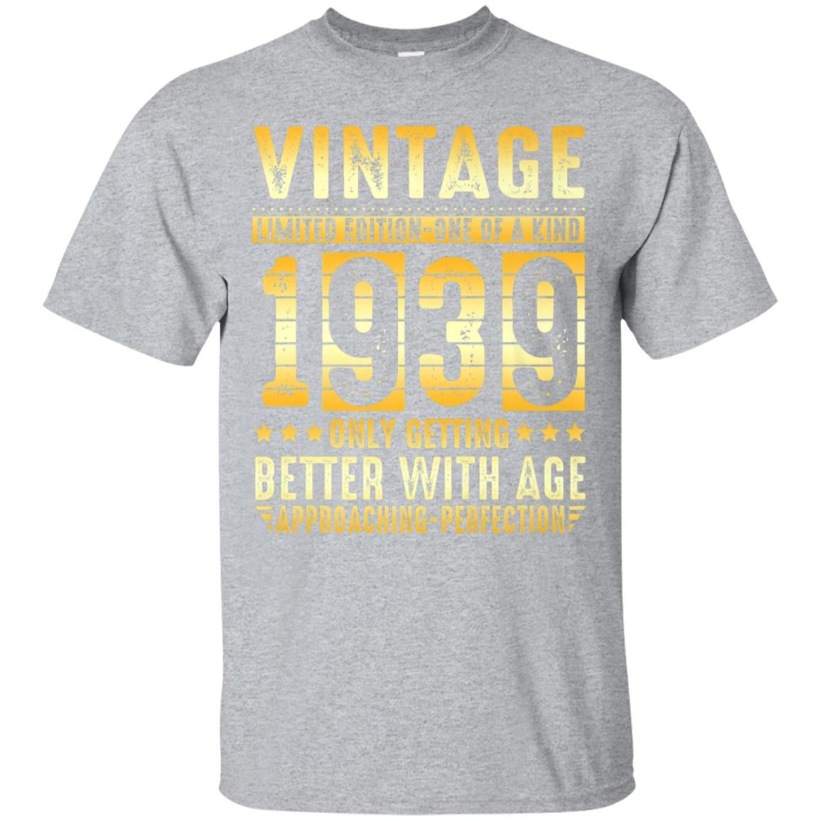 79 Years Old 1939 Vintage 79th Birthday T Shirt Decorations 99promocode