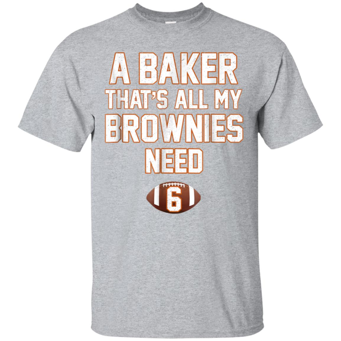 Baker That's All My Brownies Need Cleveland Vintage T-Shirt 99promocode