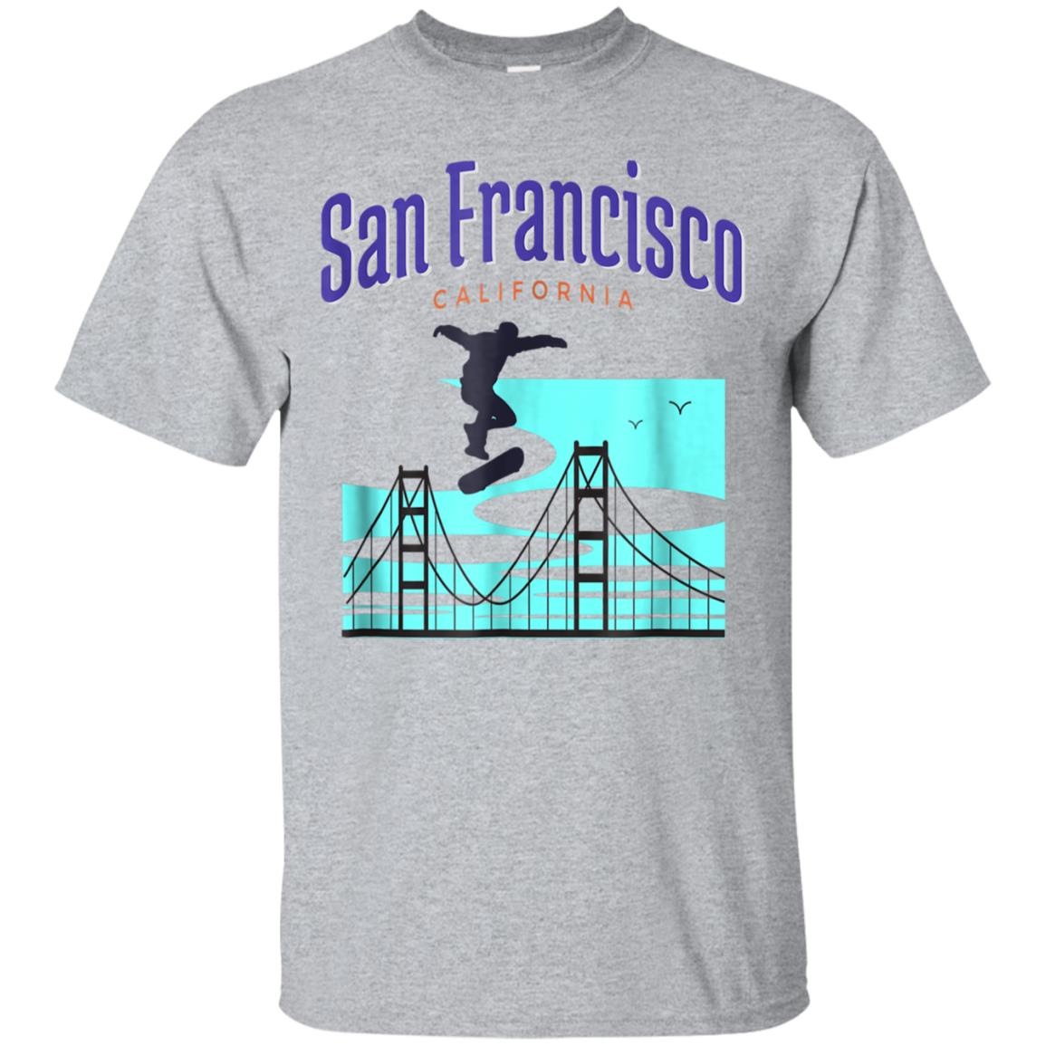 San Francisco California Skateboard T-Shirt 99promocode