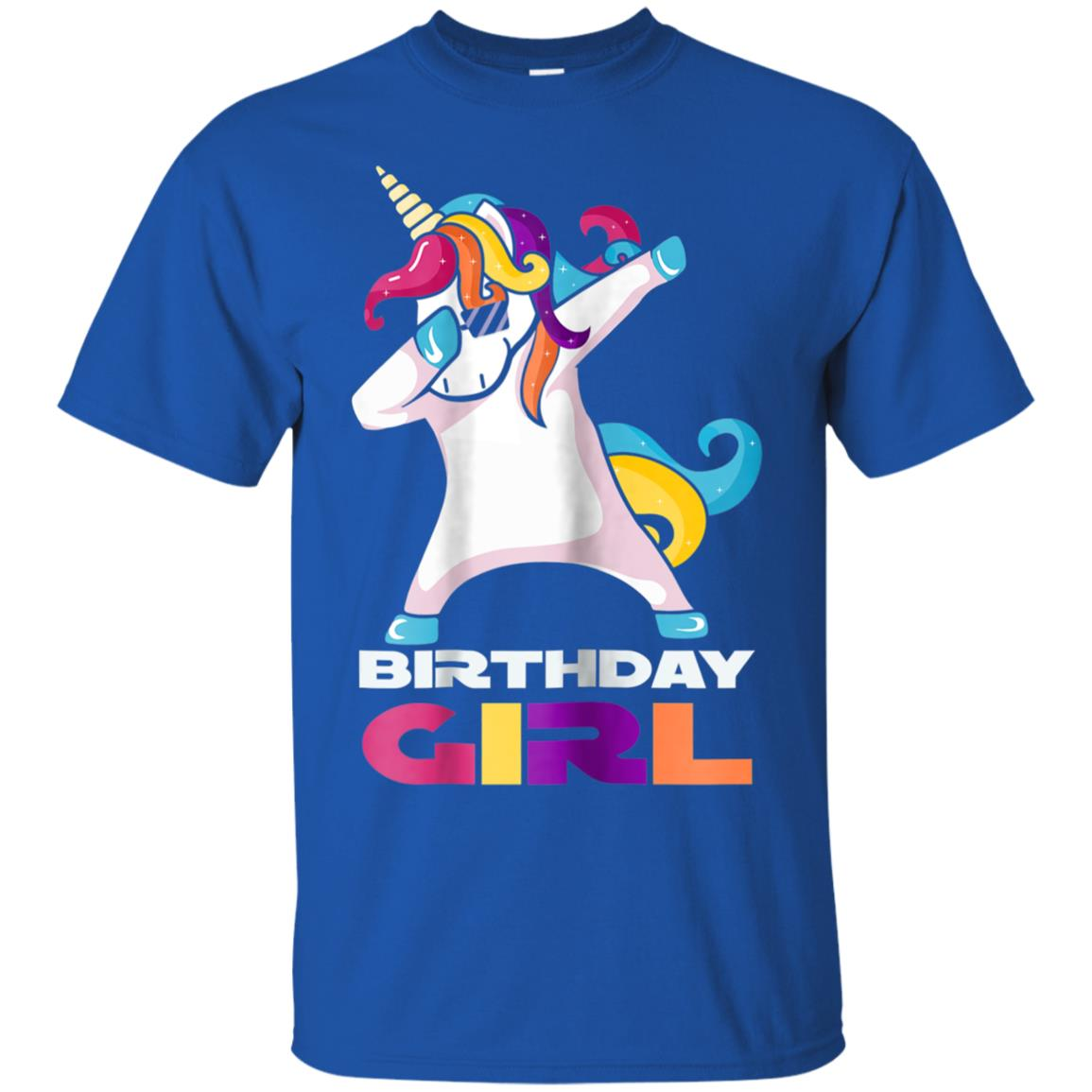 birthday girl tshirt dabbing unicorn t-shirt rainbow squad 99promocode