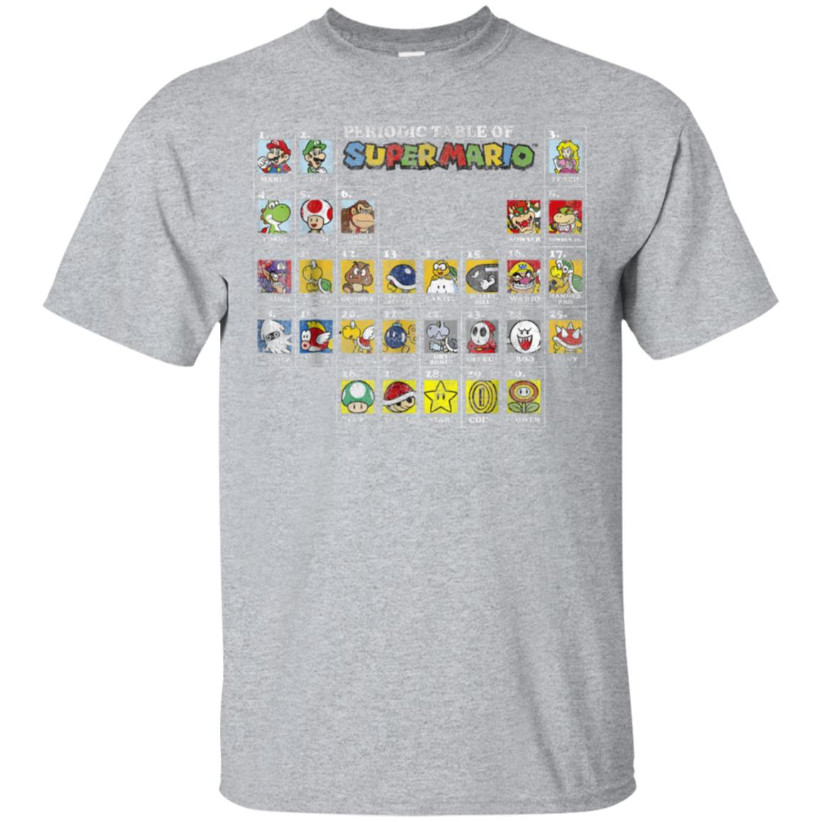 Nintendo Super Mario Periodic Table Graphic T-Shirt 99promocode