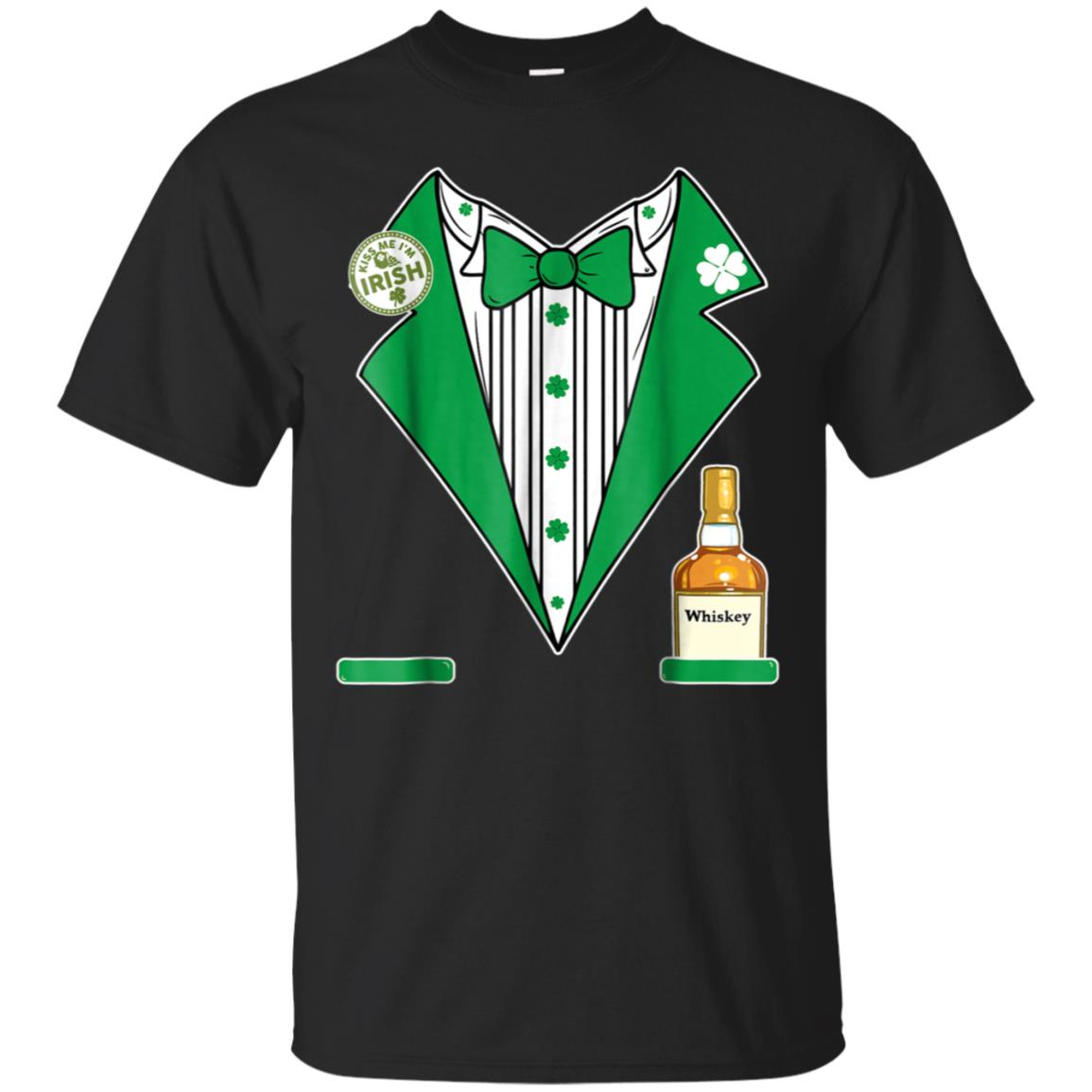 St. Patricks Day Tux Whiskey Shirt Green Pattys Day Costume 99promocode