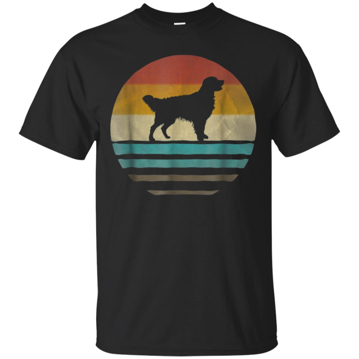 Golden Retriever Dog Shirt Retro Vintage 70s Silhouette Gift 99promocode