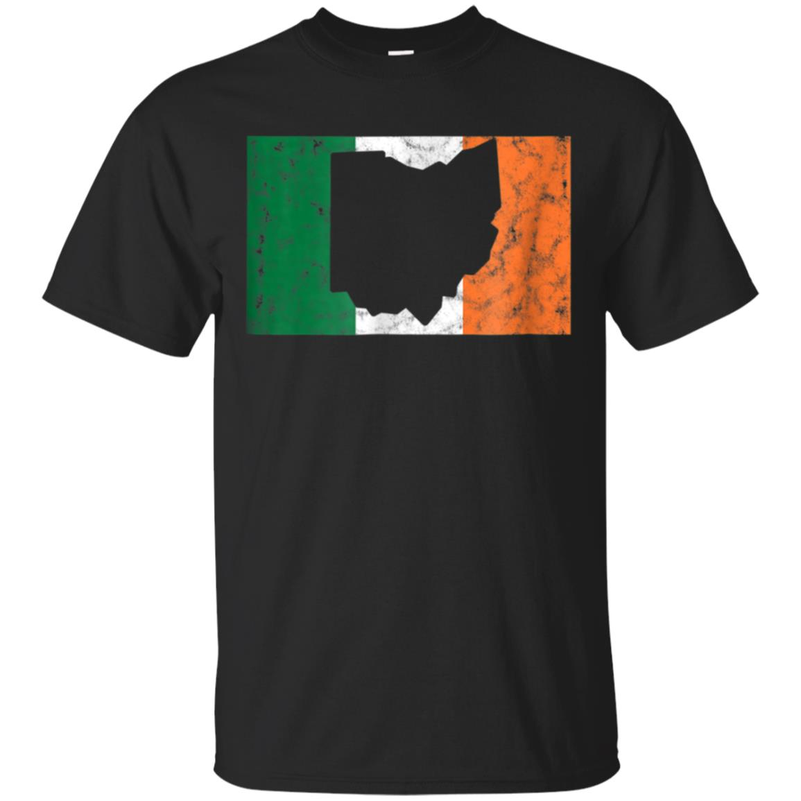 Ohio Irish Flag T Shirt - Funny St Patricks Day T Shirts 99promocode