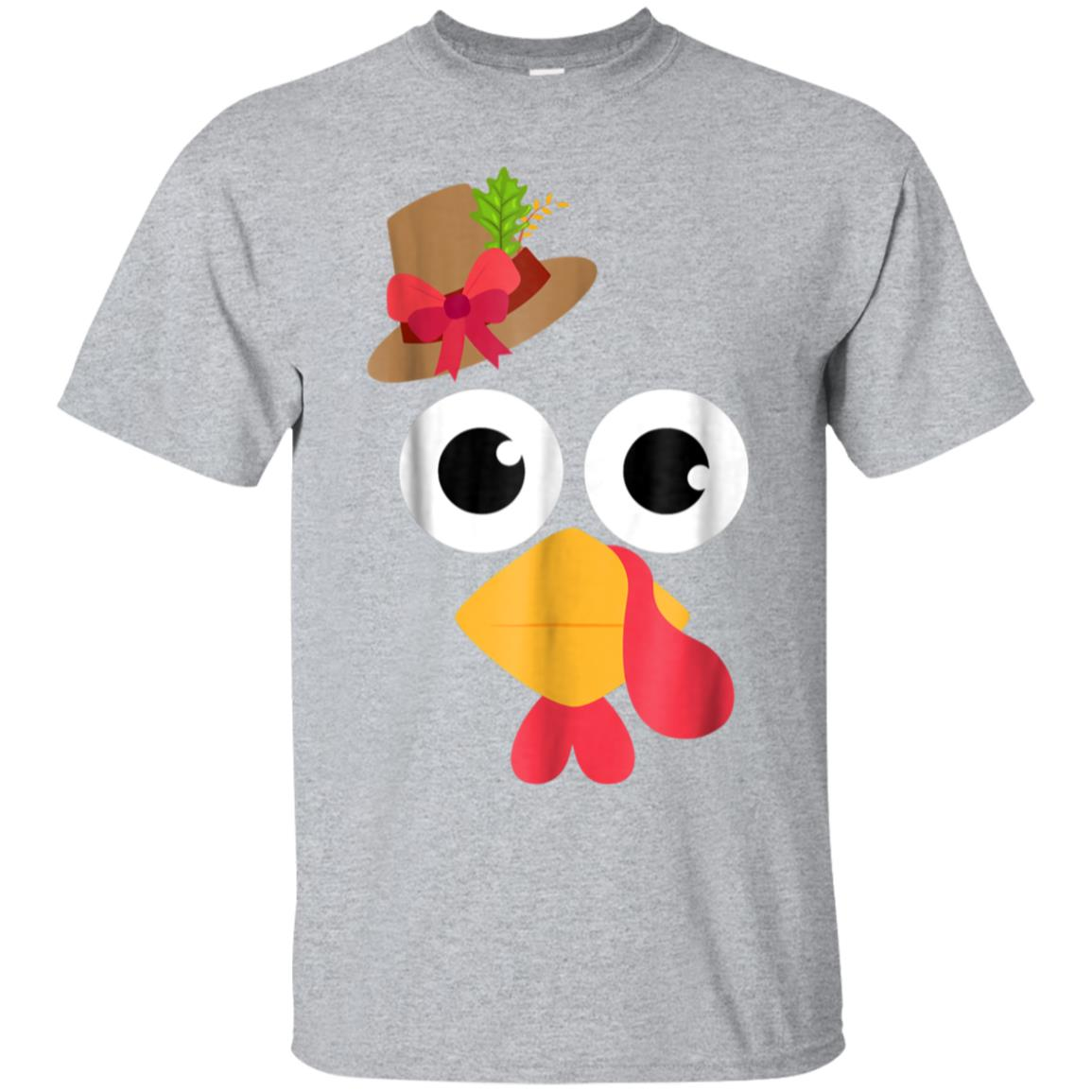 Thanksgiving Turkey Face with Pilgrim Hat and Red Bow 99promocode