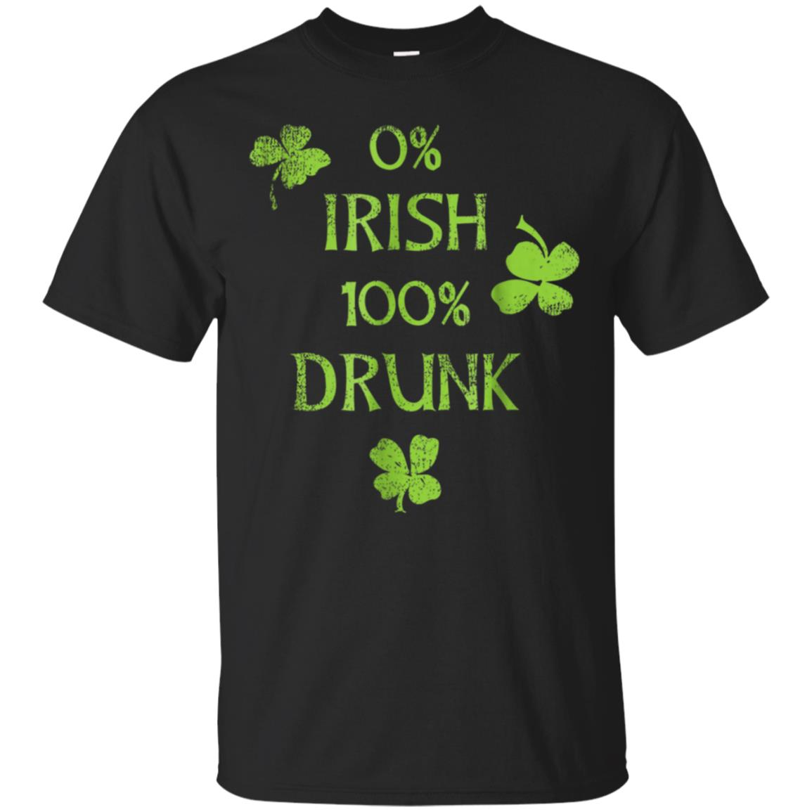 0% Irish 100% Drunk Tee Shirt 99promocode