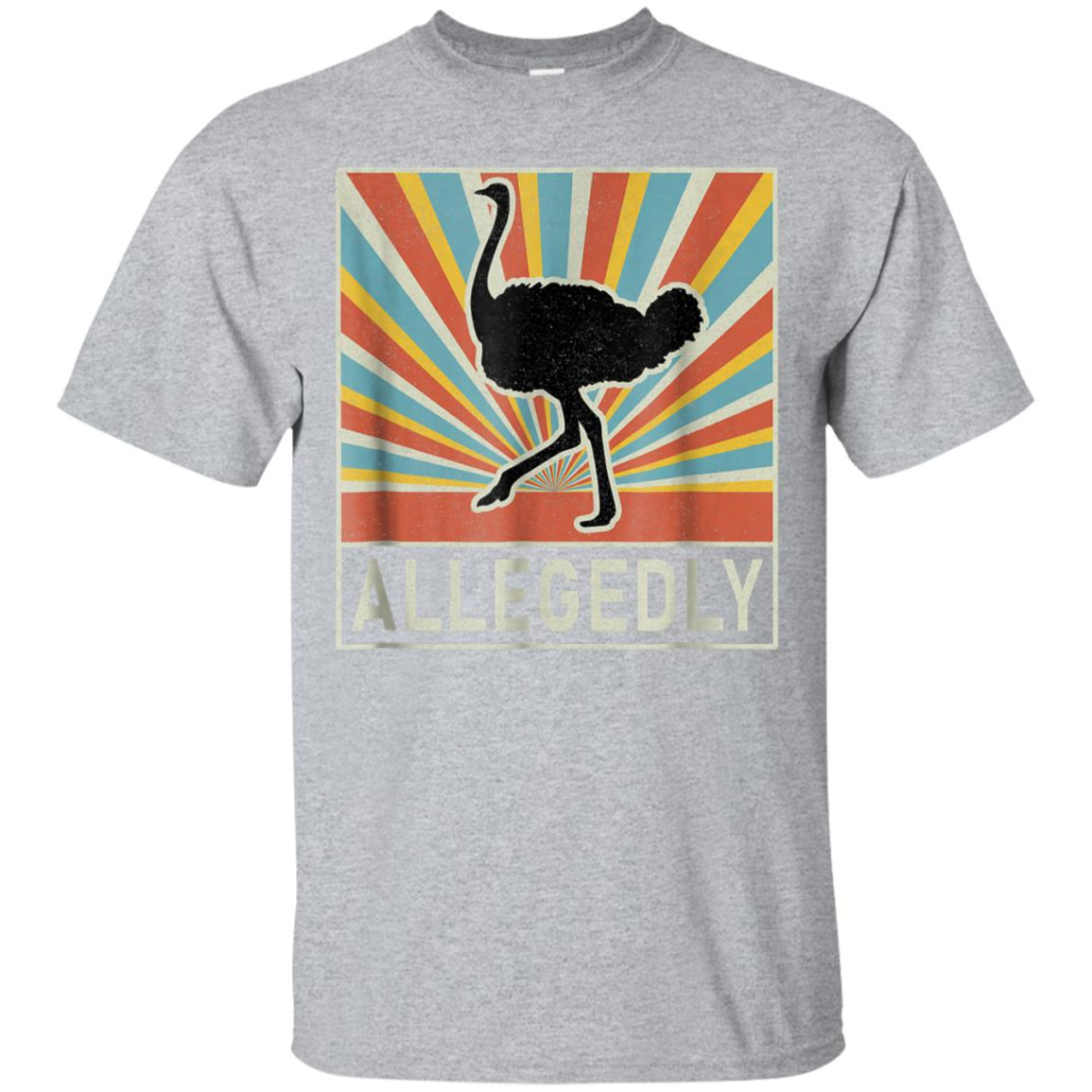 Vintage Allegedly Ostrich Retro T-Shirt - Ostrich Lover Gift 99promocode