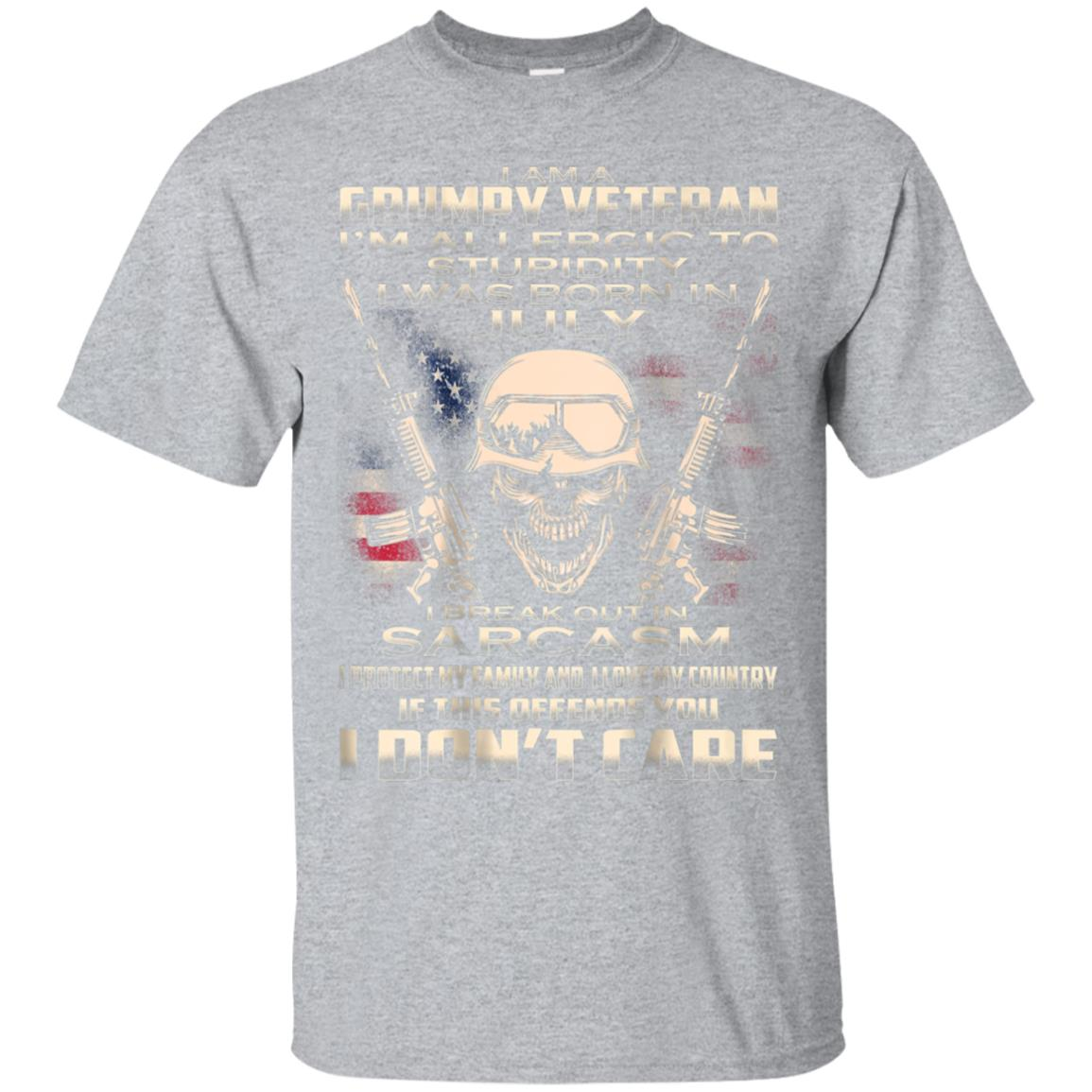 I'm A Grumpy Veteran born In July Tee Veteran's Day Gift 99promocode