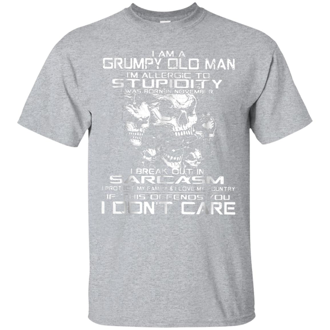 I Am A Grumpy Old Man I'm Allergic To Stupidity Shirt 99promocode