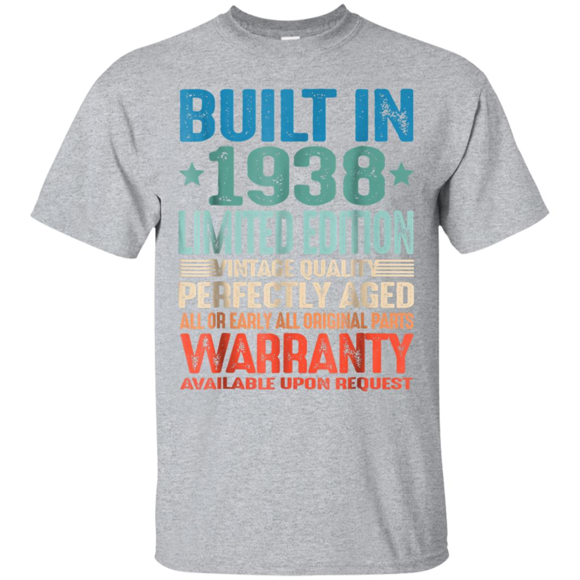 Awesome 80 Years Old 1938 Vintage 80th Birthday Men Women T Shirt