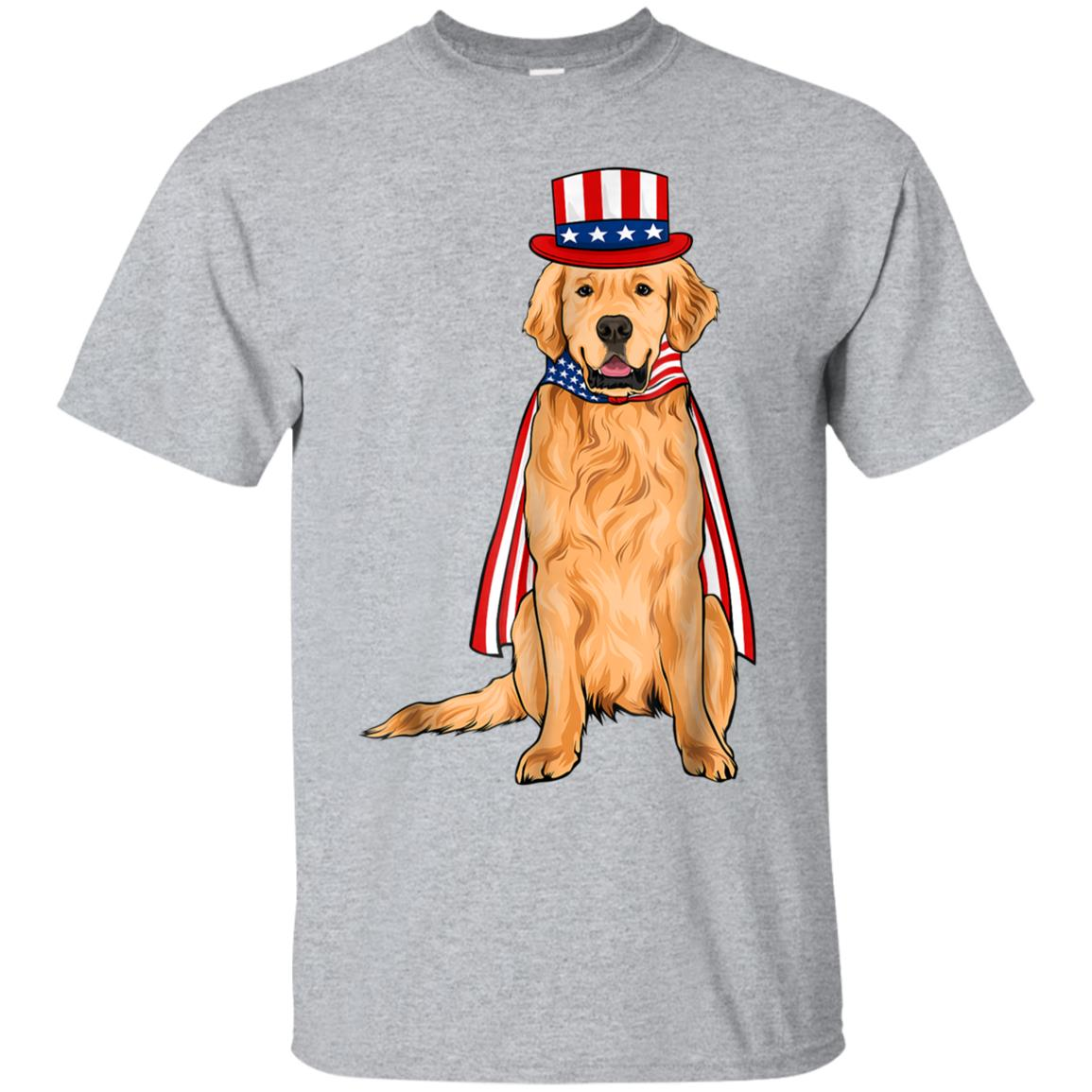 Golden Retriever Dog Shirt 4th of July USA America Gift 99promocode