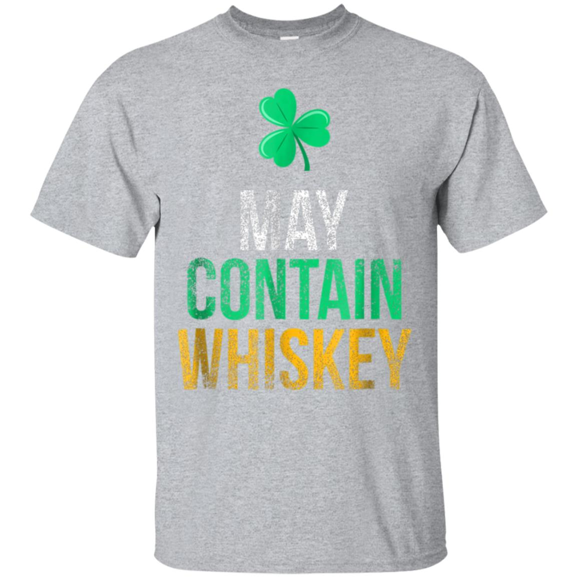 May Contain Whiskey Funny Irish Whiskey Lover T-Shirt 99promocode