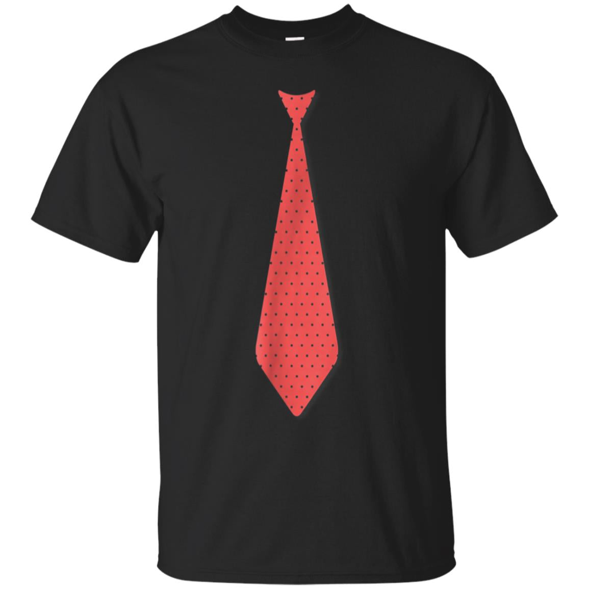 I CAN'T AFFORD A TIE Funny Fake Tie Cartoon T-Shirt 99promocode